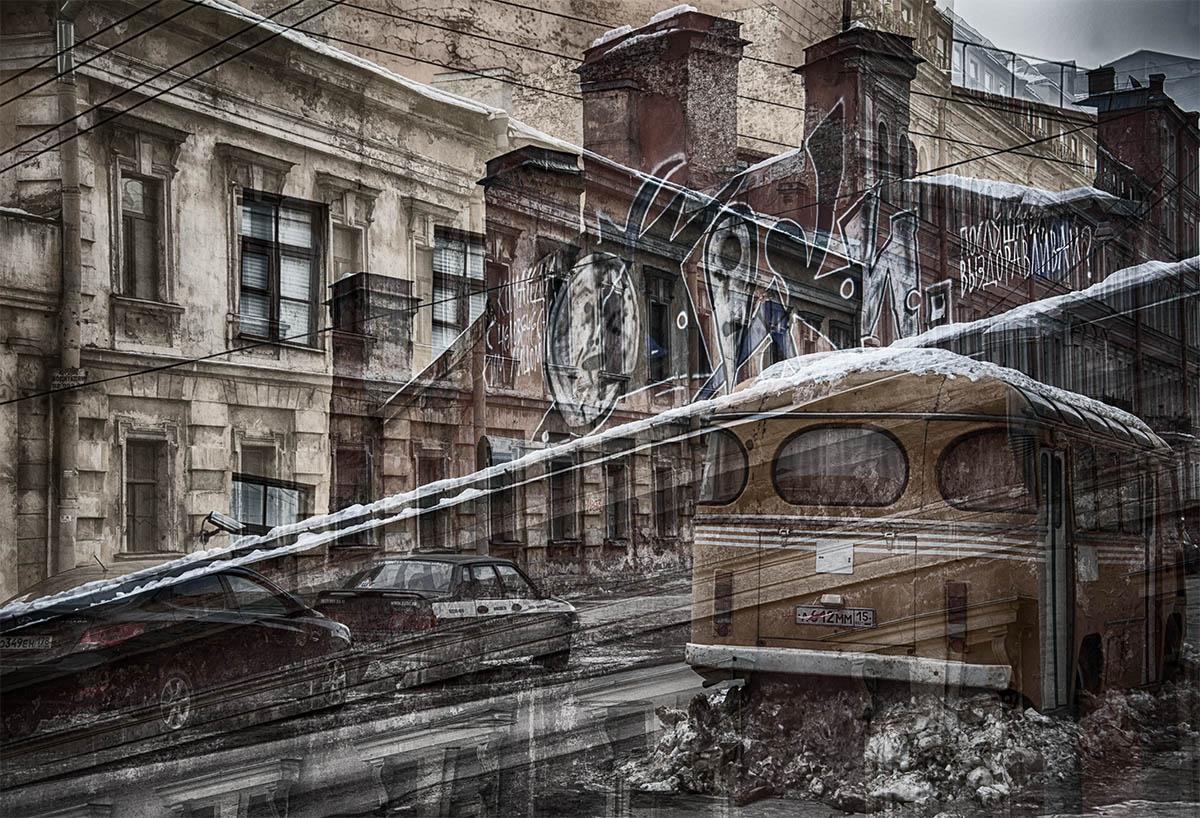 санкт-петербург, почтамская улица, стены, граффити, автобус, Ольга Александрова