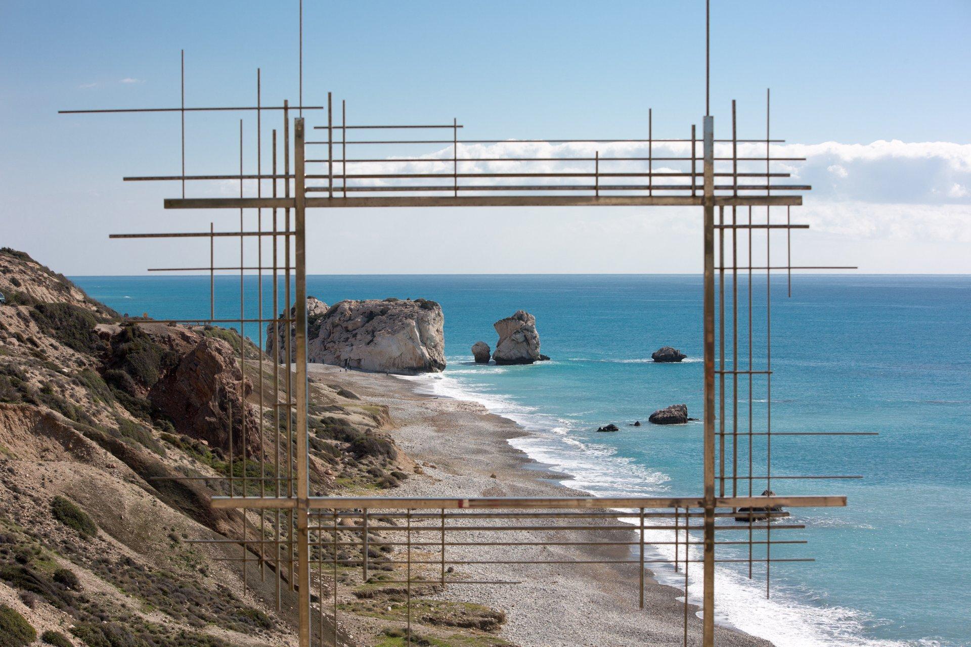 кипр, море, скалы, вид, инсталляция, пейзаж, Илья Беленький