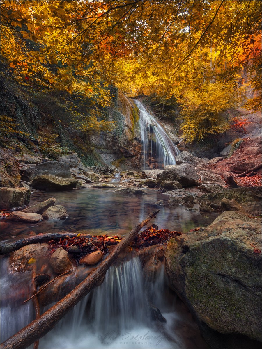 крым, водопад джур-джур, осень, Влад Соколовский