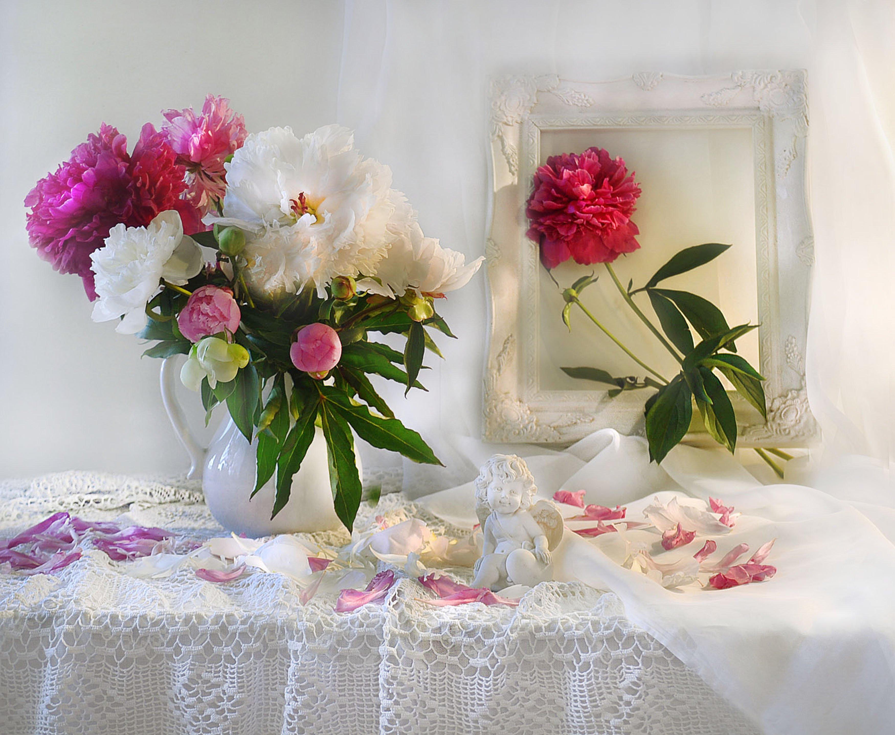 still life, натюрморт, ангел, летние грёзы, пионы, фото натюрморт, цветы, Колова Валентина