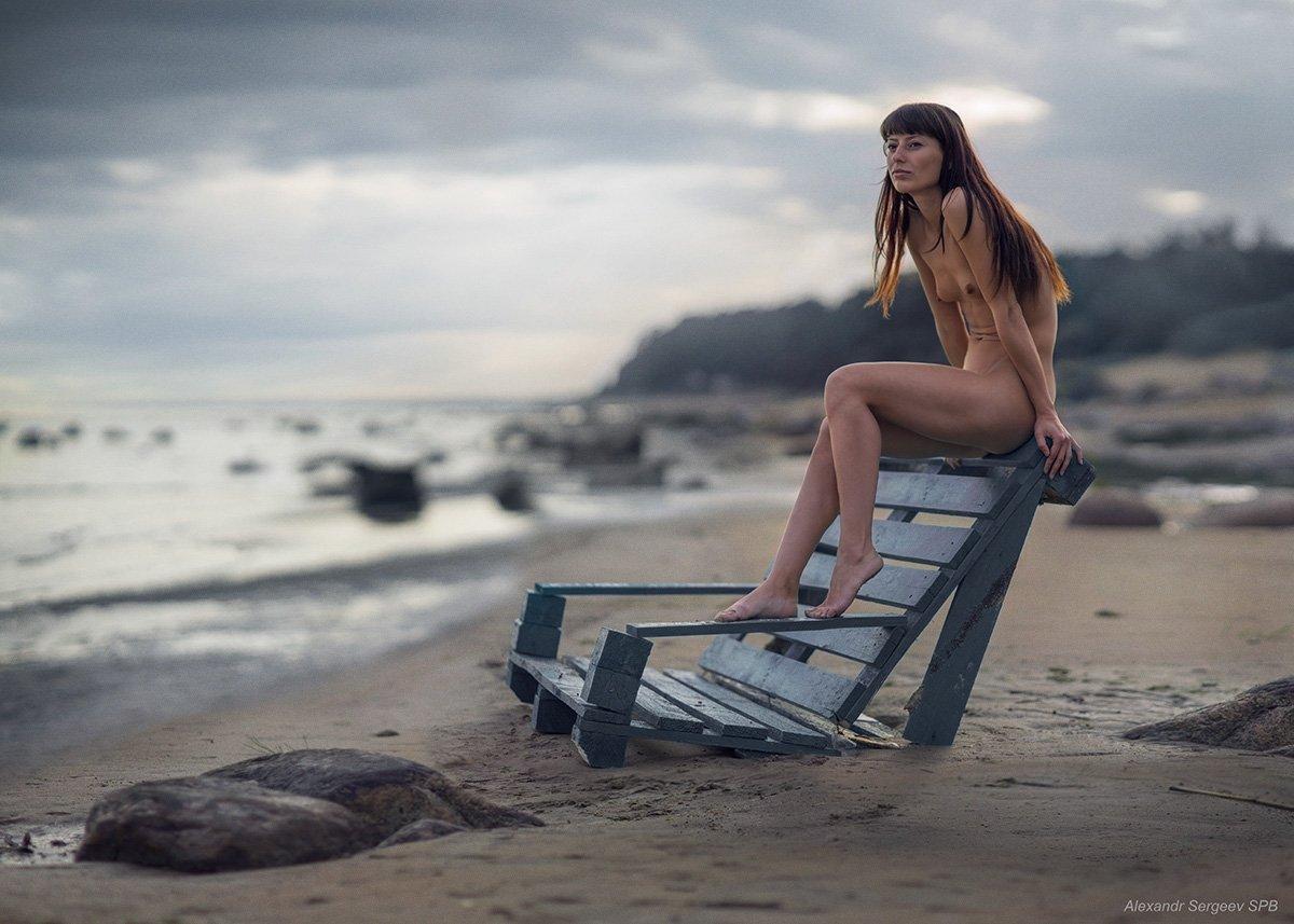 девушка,обнаженная,природа,гармония,пляж,настроение,романтика,грусть,лирика, Сергеев Александр
