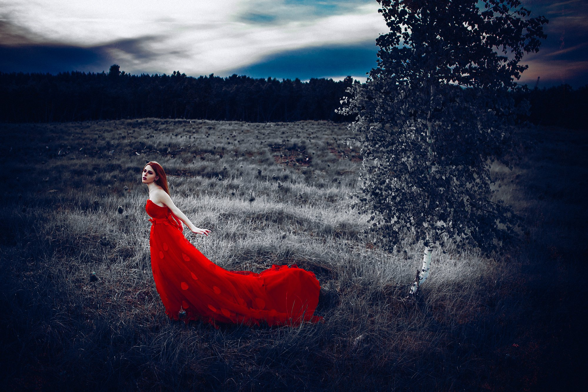 woman, portrait, dress, outdoors, conceptual, Руслан Болгов (Axe)