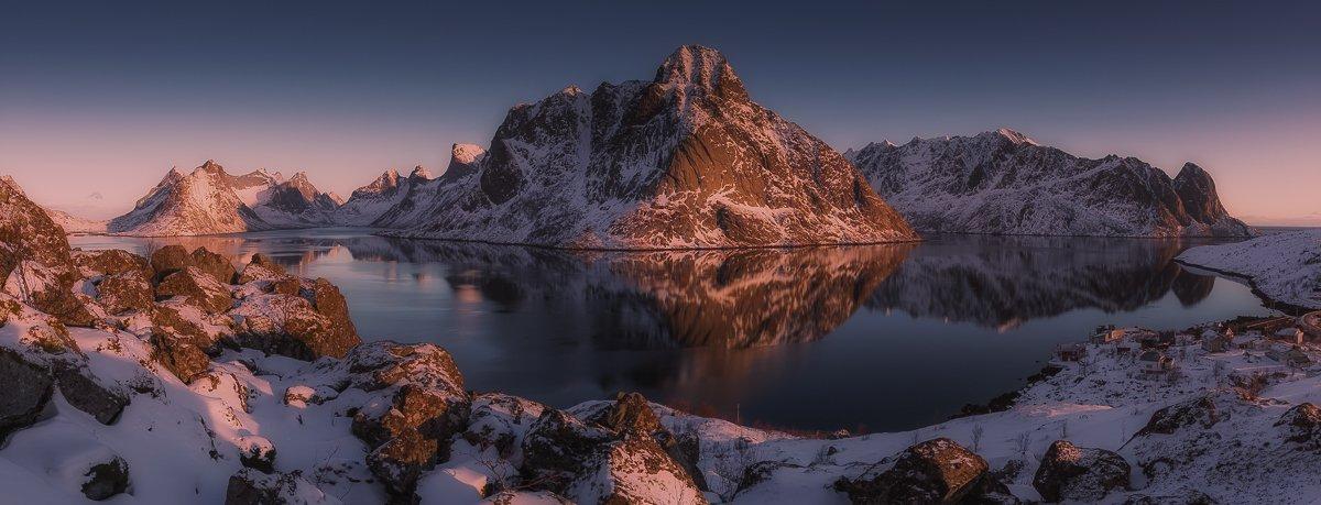 lofoten winter,panorama, Marek Biegalski