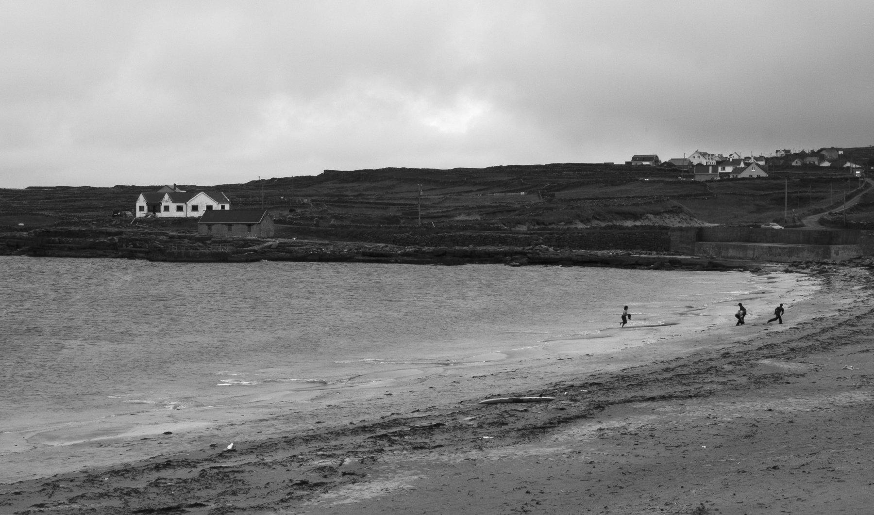 Inishmore, Ireland, Island, Black and white, Monochrome, Atlantic, Ocean , Elena Beregatnova
