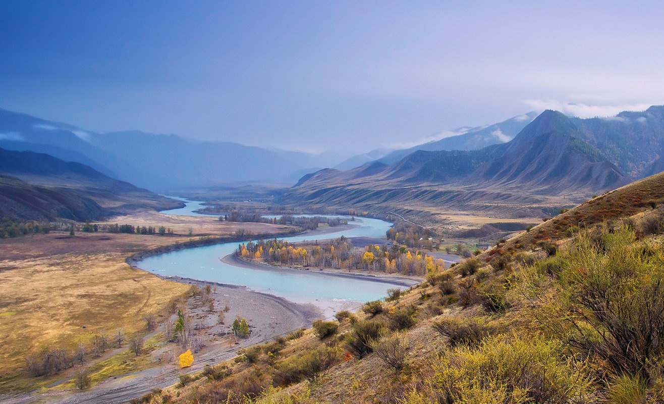 алтай, река, катунь, инегень, свет, , горы, Валерий Чичкин