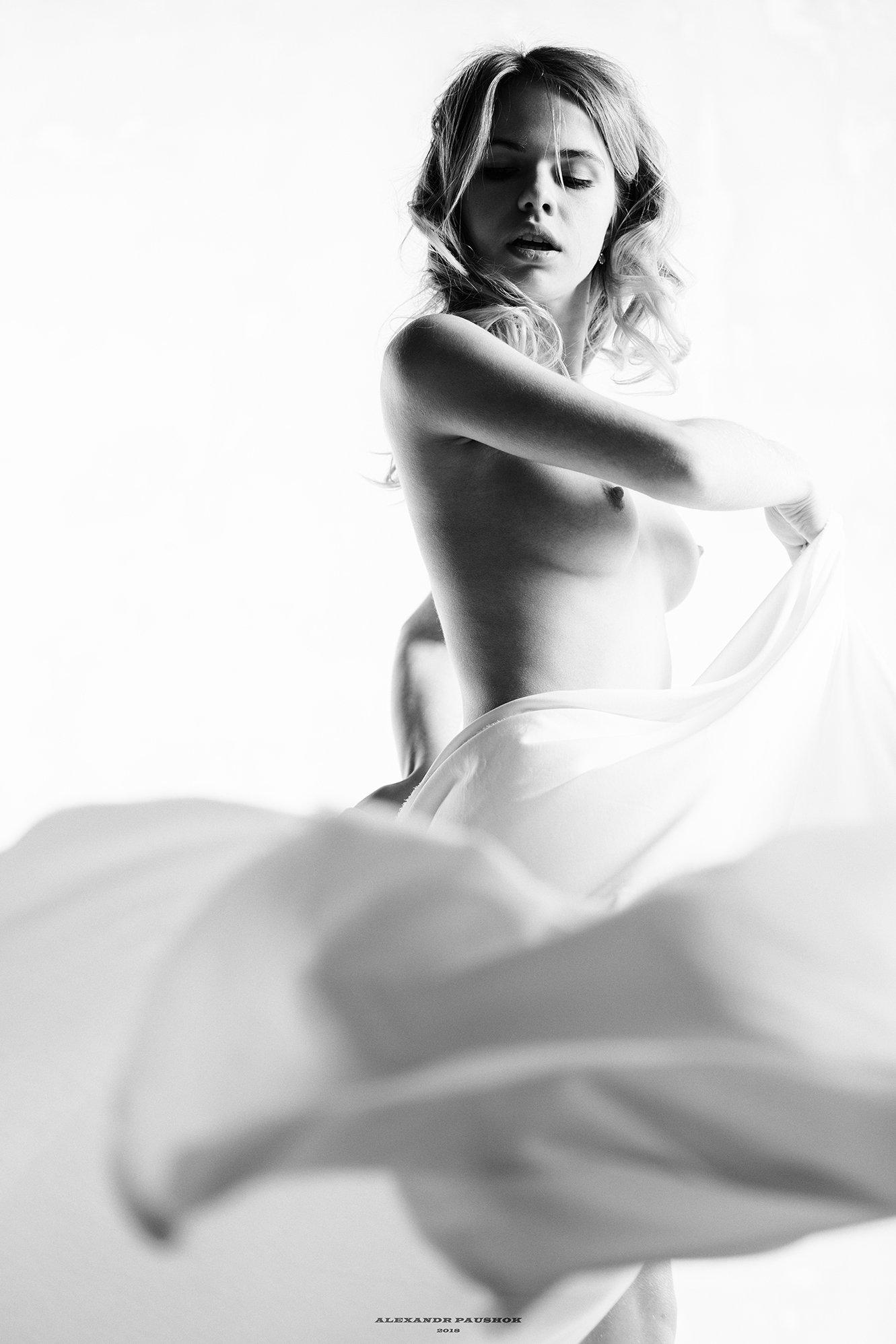 nude, body, beauty, girl, young, monochrome, blackandwhite, Paushok Alexander