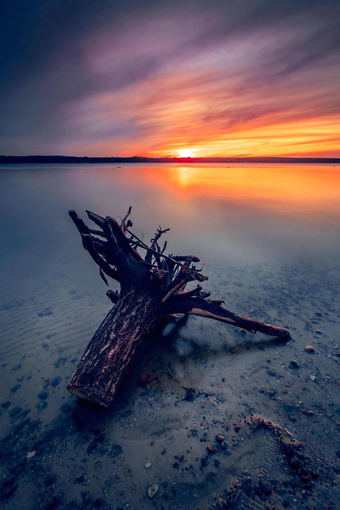 sunset, curonian gulf, colors, long exposure, landscape, Руслан Болгов (Axe)