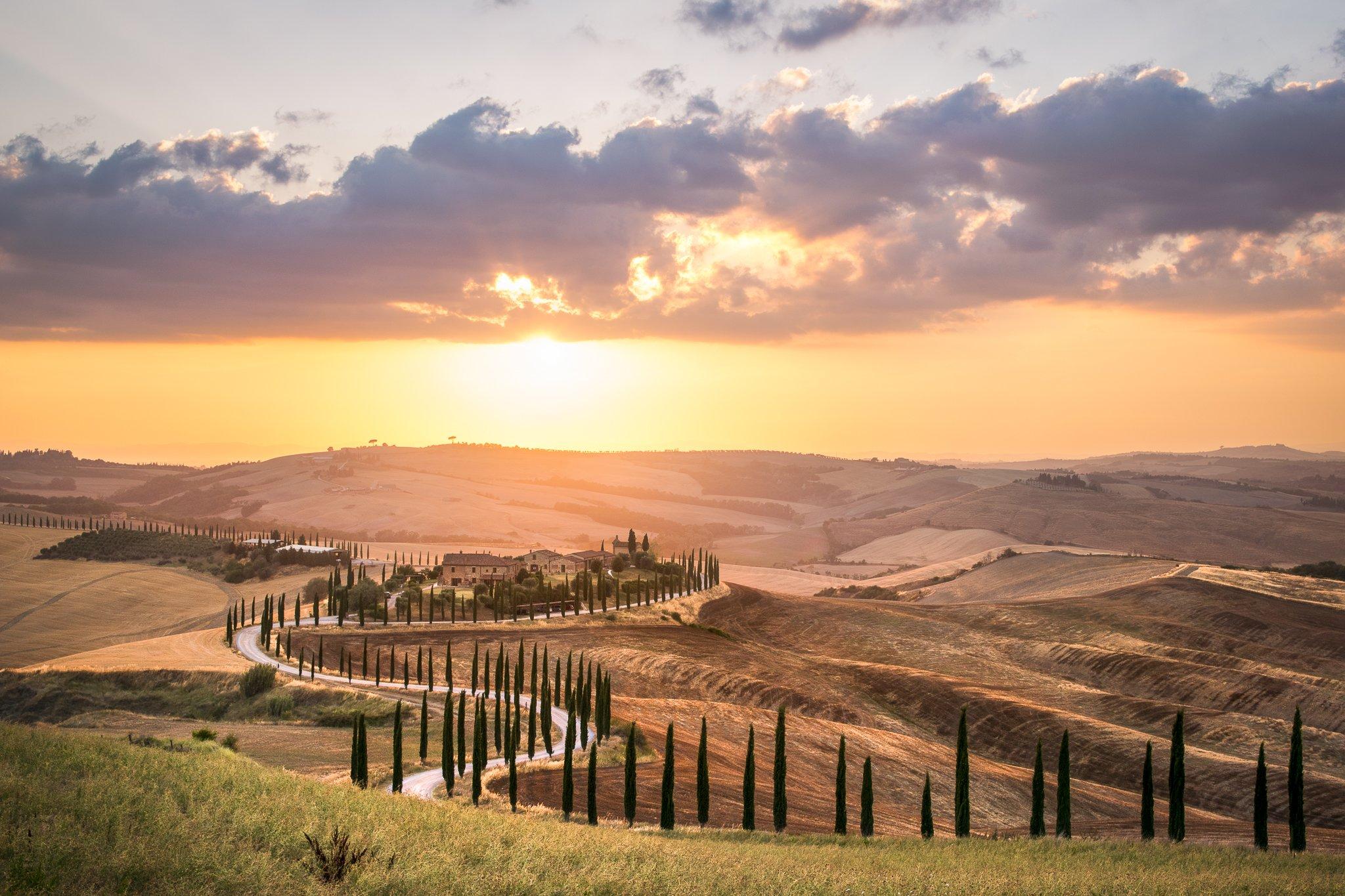 #sunset #tuscany #wine #summer #travel #journey, Mая Врънгова