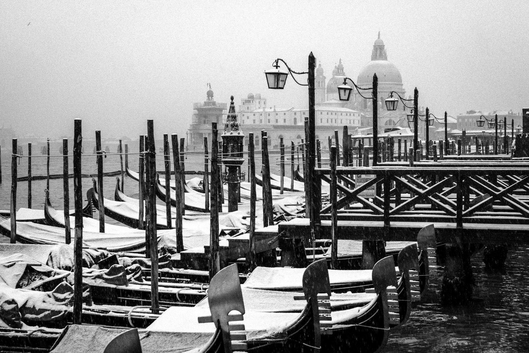 italy, venice, cityscape, winter, BW, Igor Sokolovsky