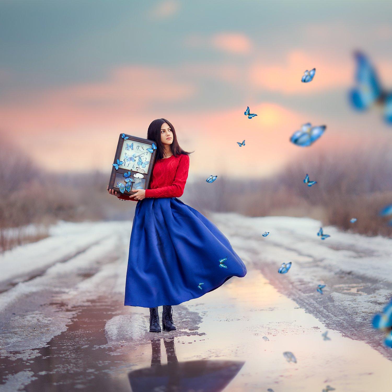 девушка, весна, Ольга Москальцова
