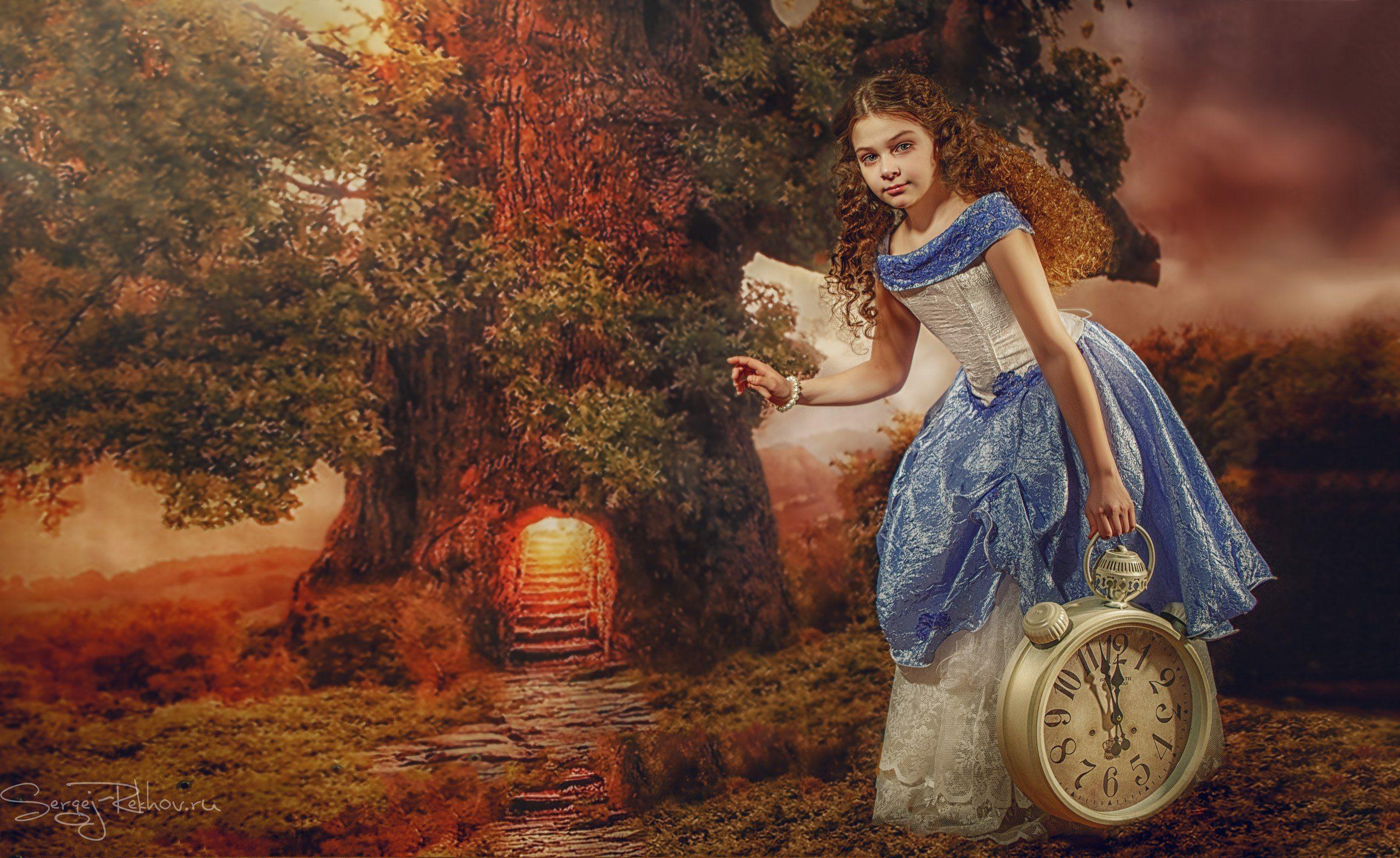 алиса, сказка,  лес, часы, приключения, rekhov, Сергей Рехов