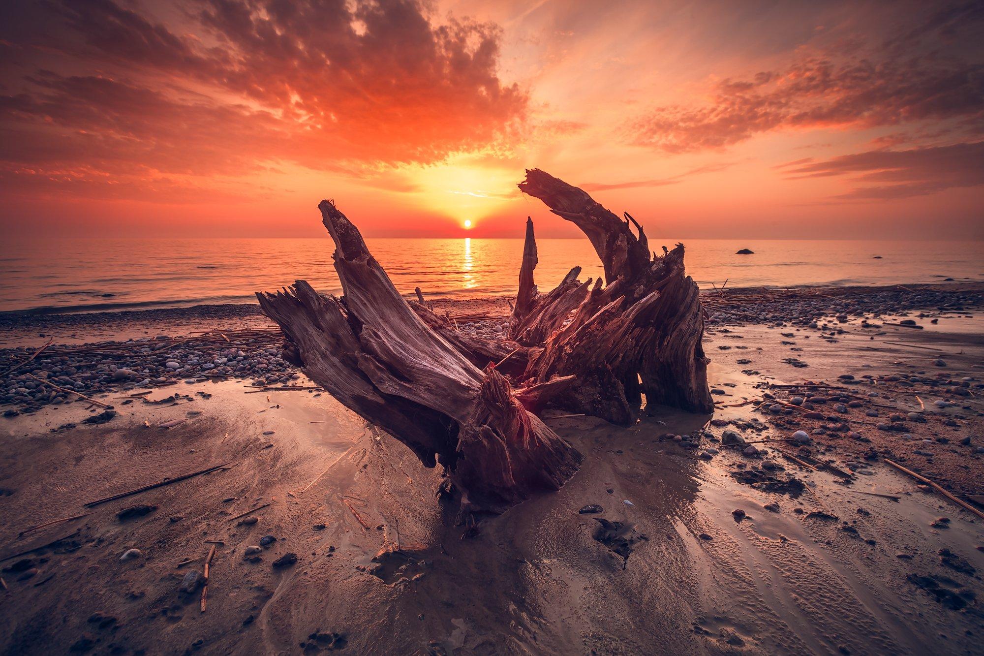 seascape, sunset, baltic sea, colors, Руслан Болгов (Axe)