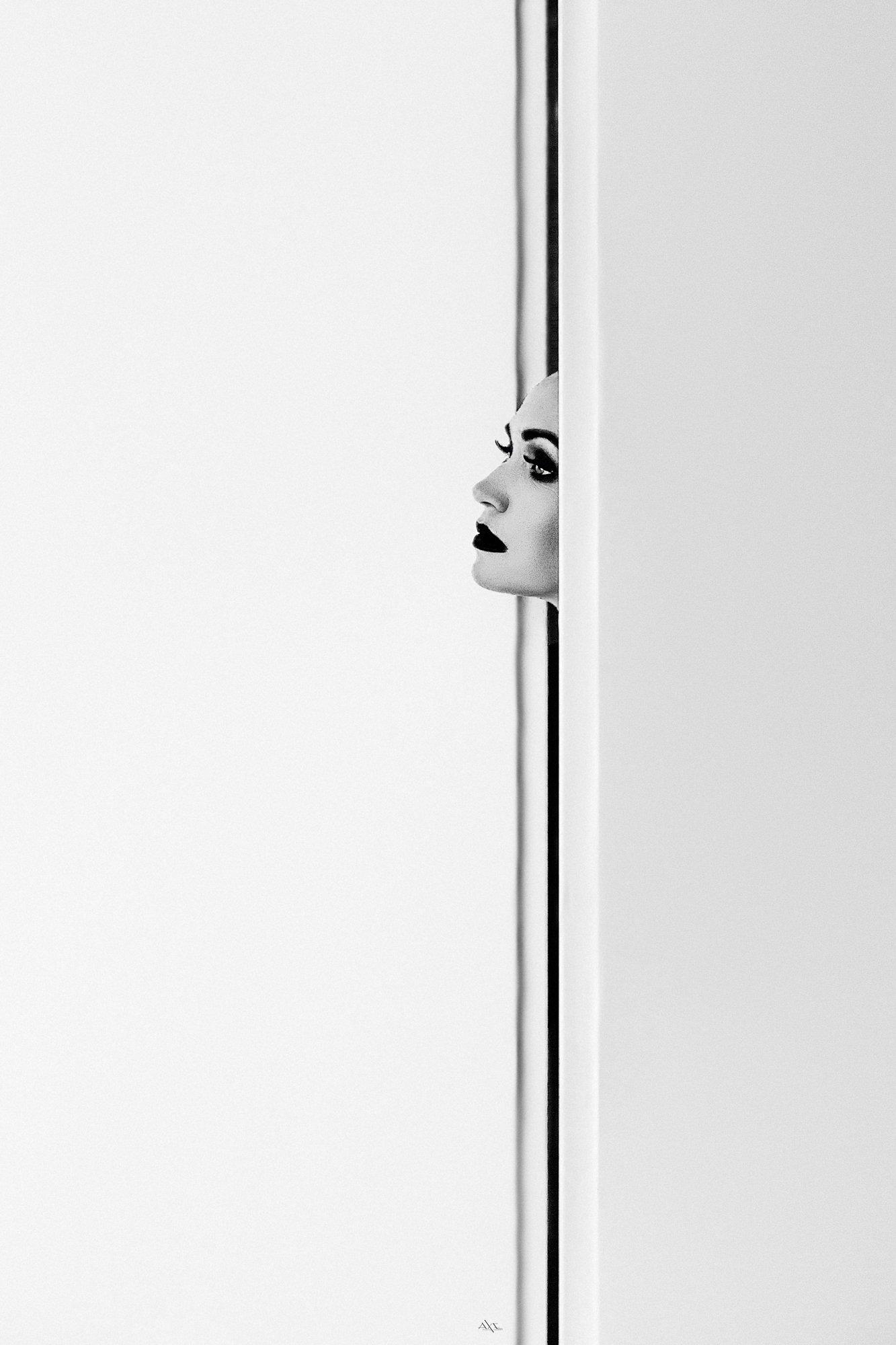 woman, portrait, black and white, conceptual, minimalism, Руслан Болгов (Axe)
