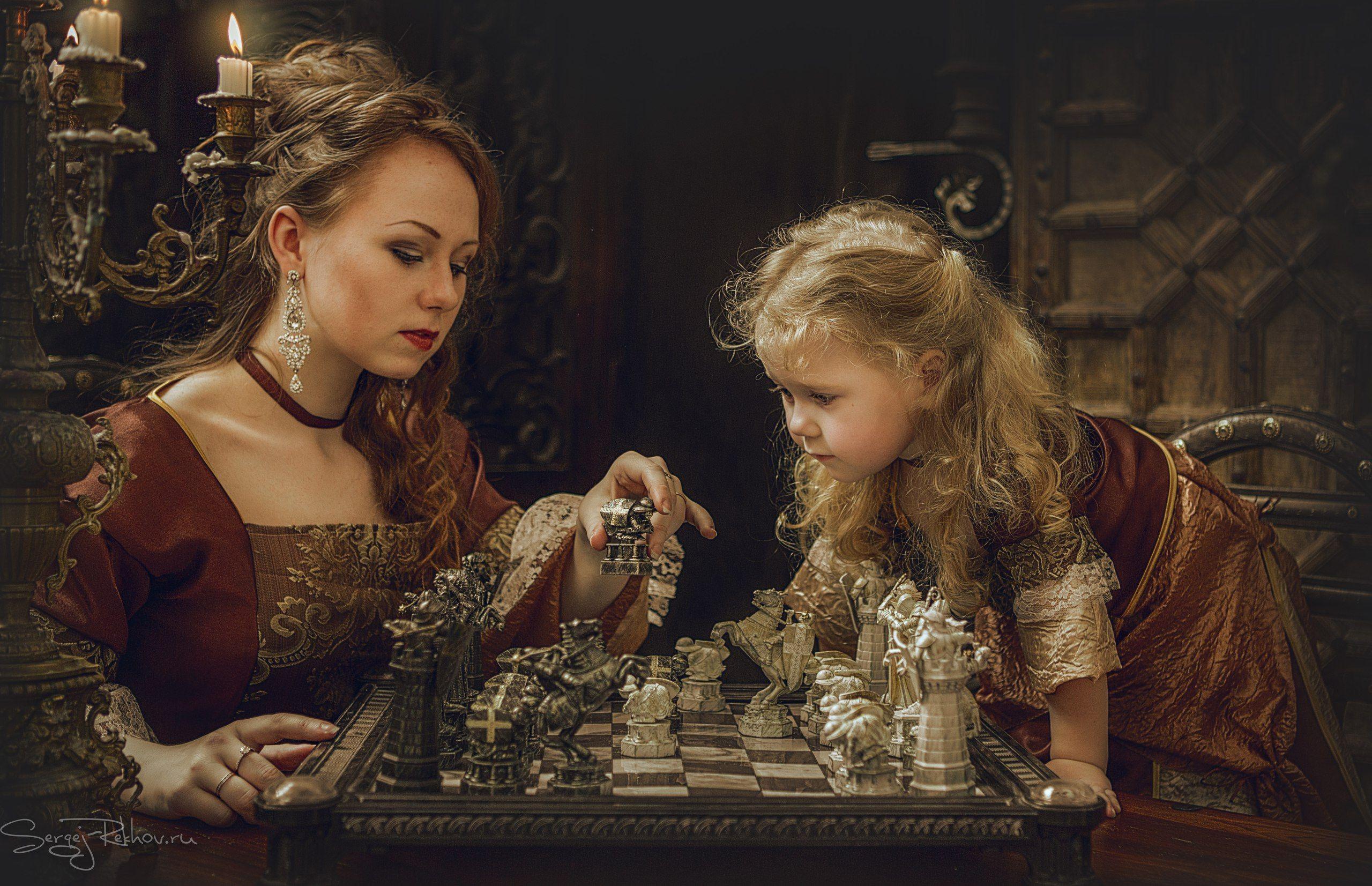 мама, шахматы, дочка, игра, rekhov, Сергей Рехов