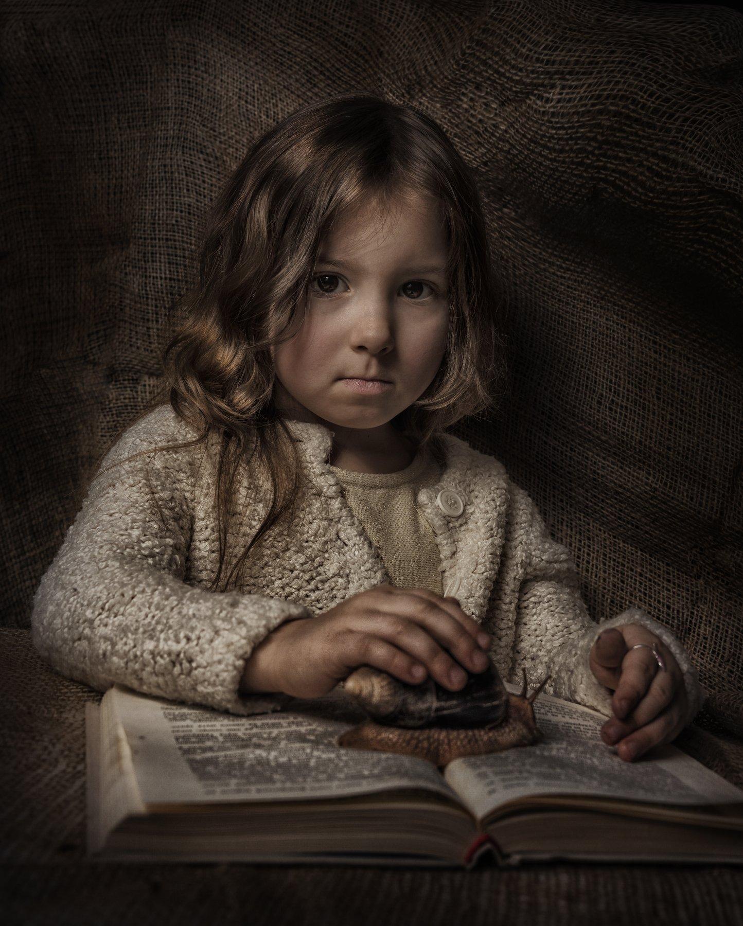 дети, животное, улитка, жанровое, фото, портрет, Наталия Холодова