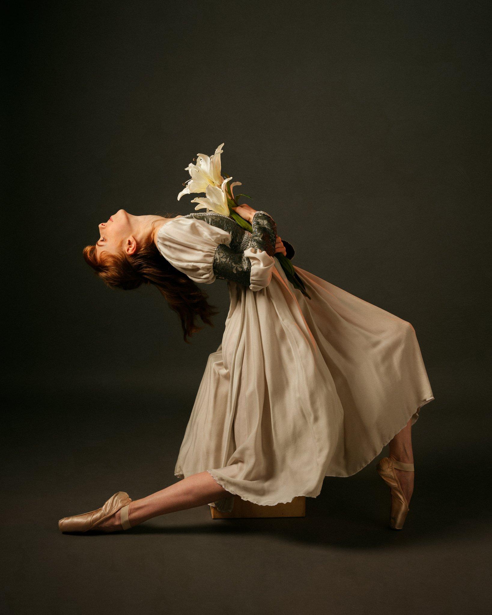 ballet, dancer, portrait, studio, ballerina, redhead, mood, girl, fashion, Saulius Ke
