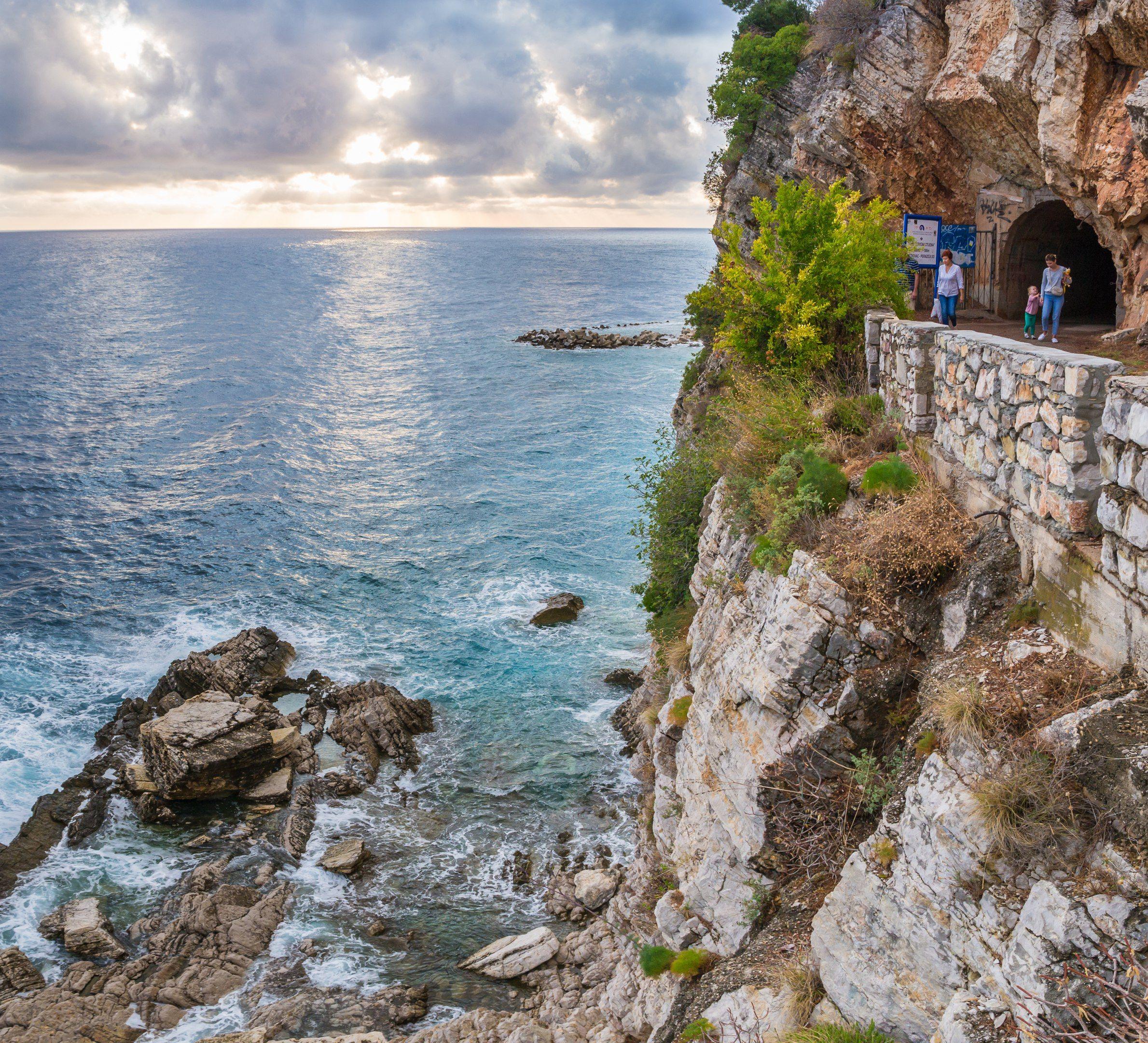 черногория, море, горы, гора, волны, небо, облака, montenegro, sky, mount, sea, Мержанов Дима