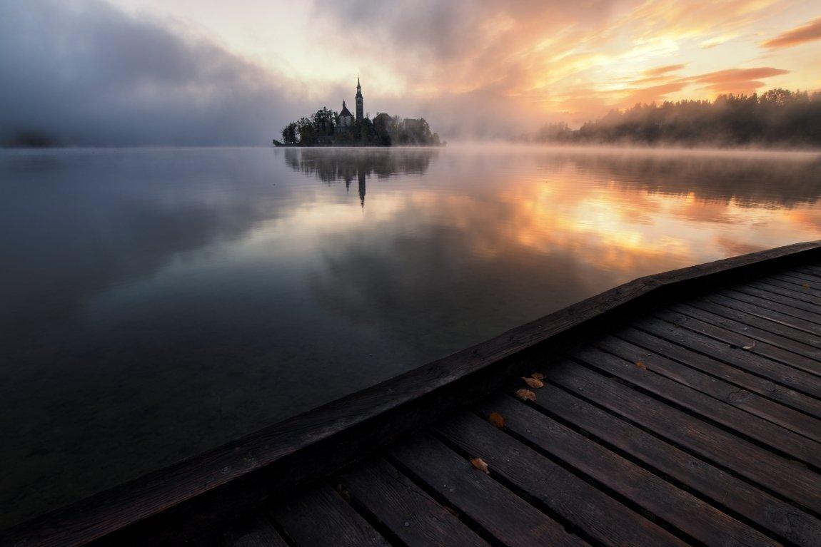 bled, slovakia, lake, mirror, moody, Jakub Müller