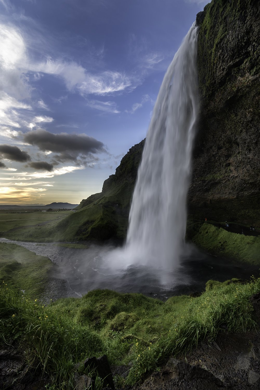 seljalandsfoss, landscape, iceland, sunset, waterfall, Sylwia Grabinska