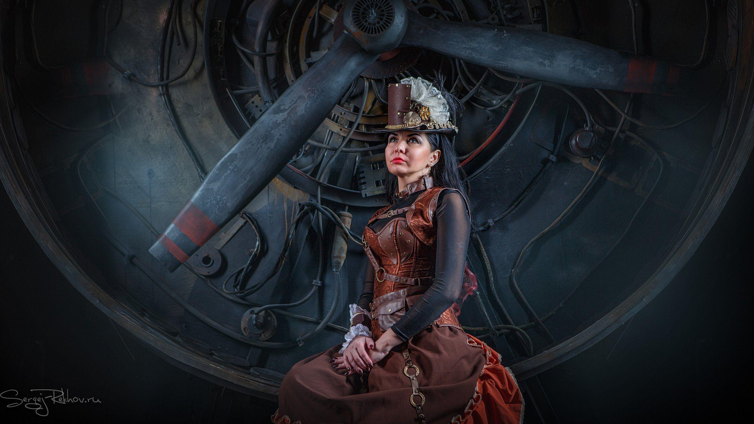 steampunk, студия, портрет, стимпанк, Сергей Рехов