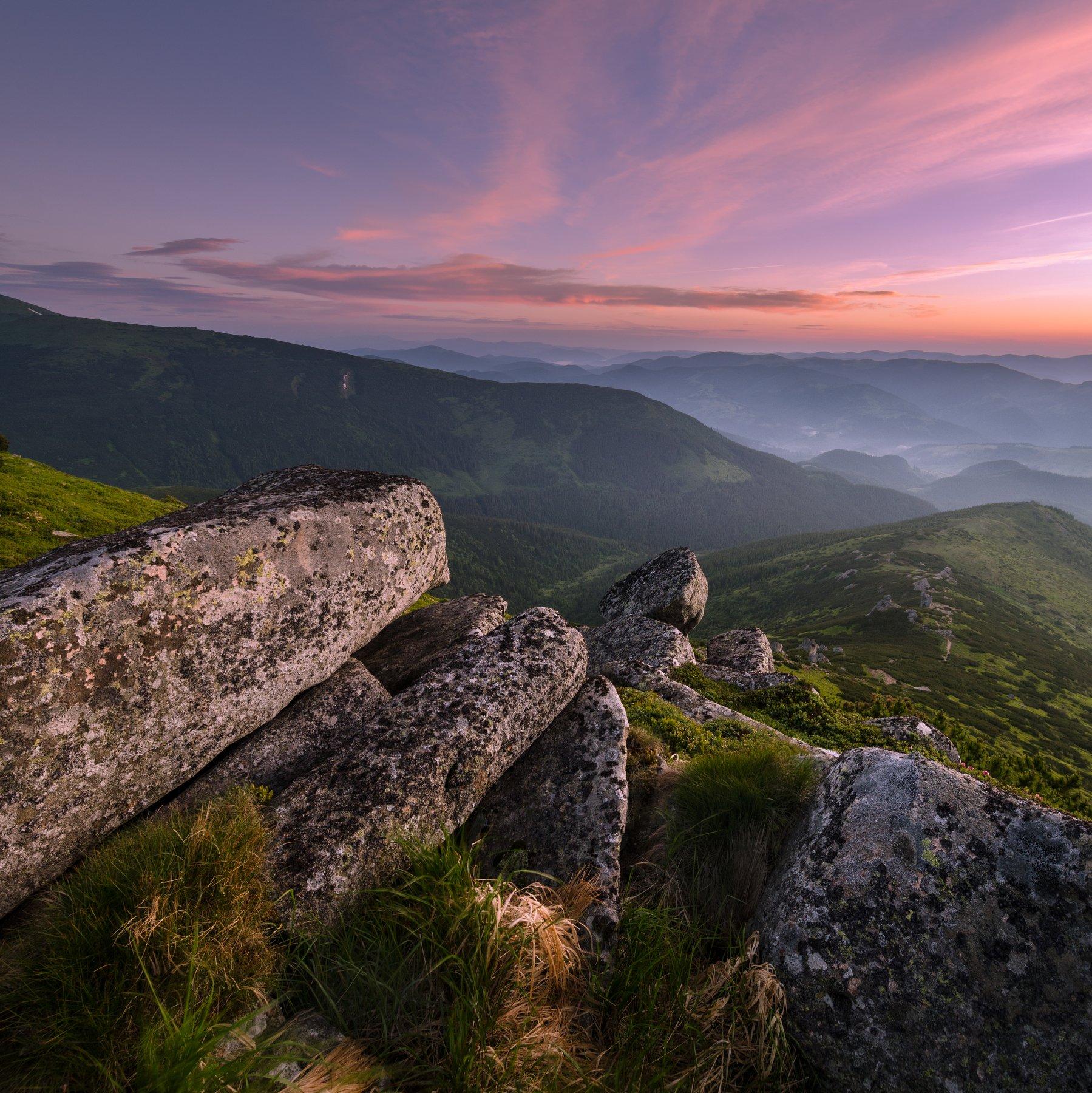 черногорский хребет, карпаты, гора ушастый камень, Зинченко Роман