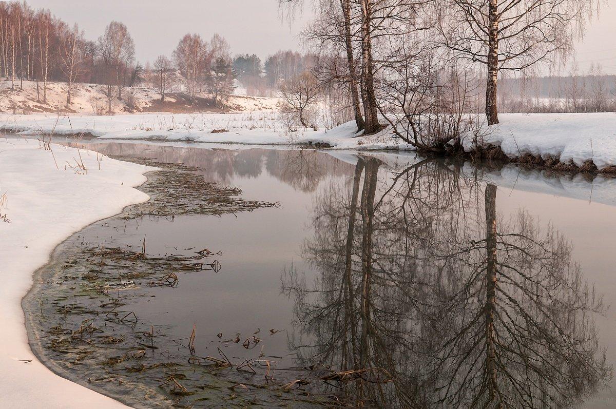 весна, река, туман, Yakovlev Artur