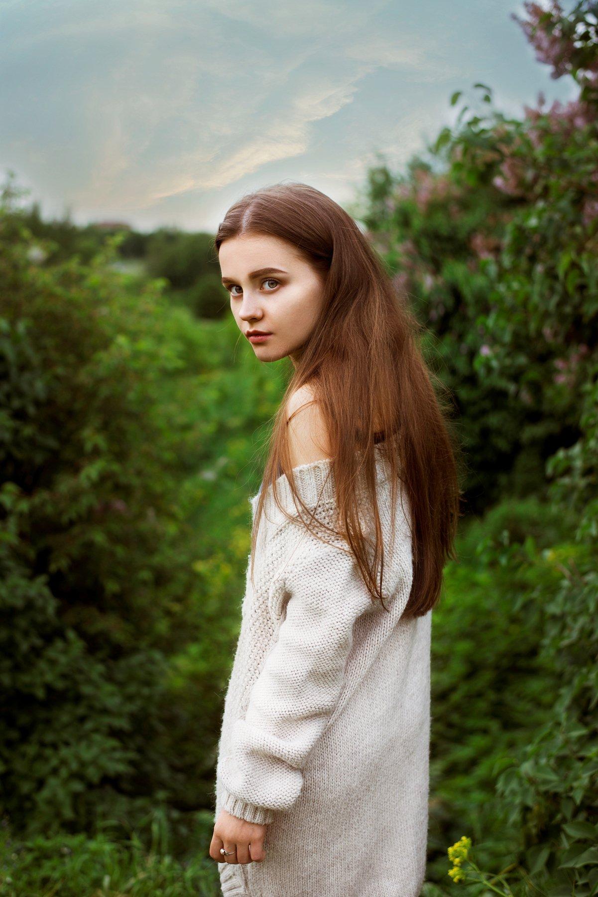 портрет, девушка, лето, Анастасия Добровольская