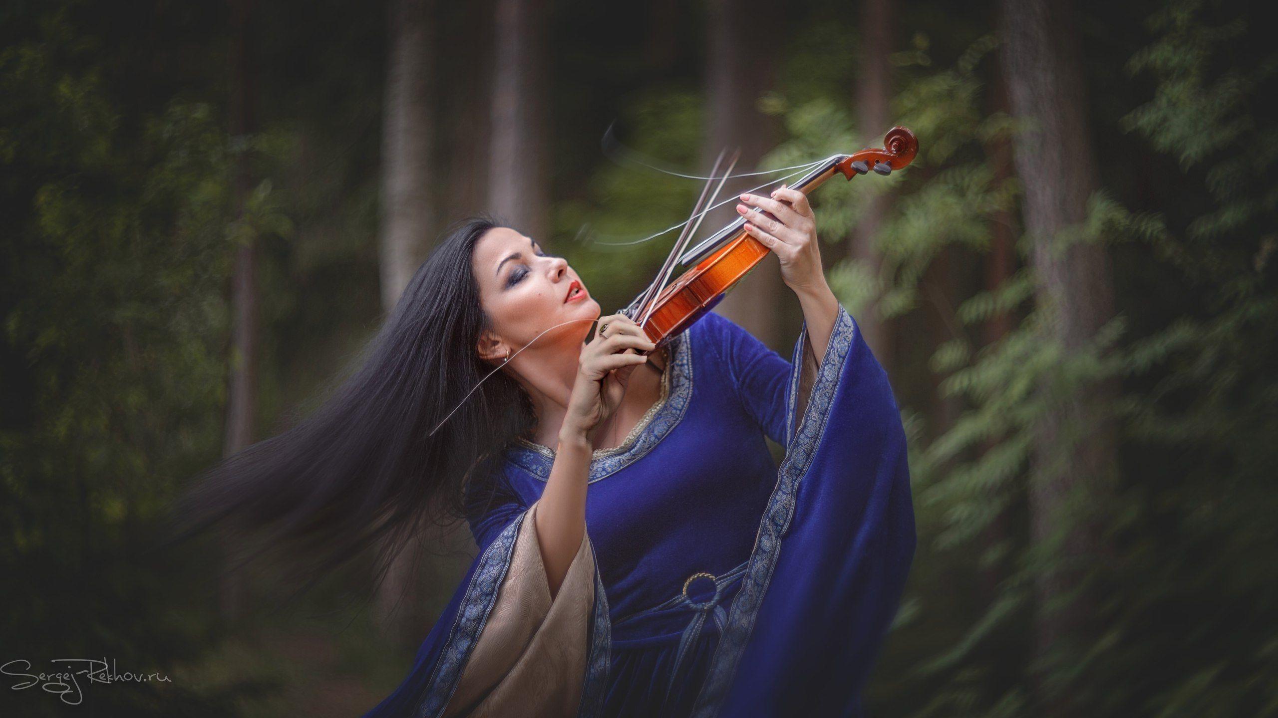 женщина, скрипка, музыка, Сергей Рехов