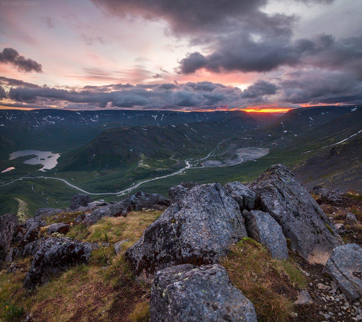 пейзаж,горы,закат,небо,россия,хибины,путешествие,перспектива,панорама,небо, Истомин Виталий