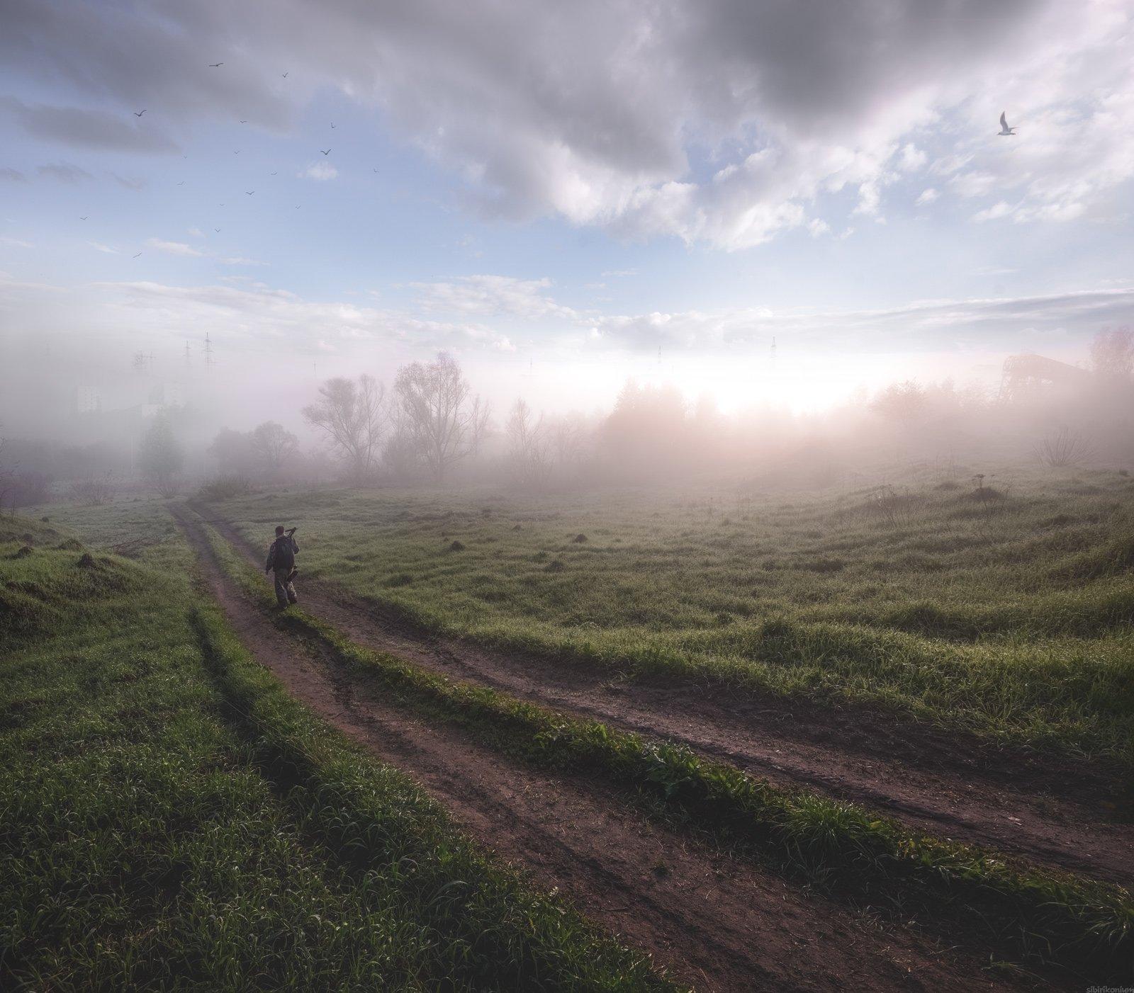 #пейзаж #весна #подмосковье #чехов #красиво #природа #утро #рассвет, Морозов Юрий
