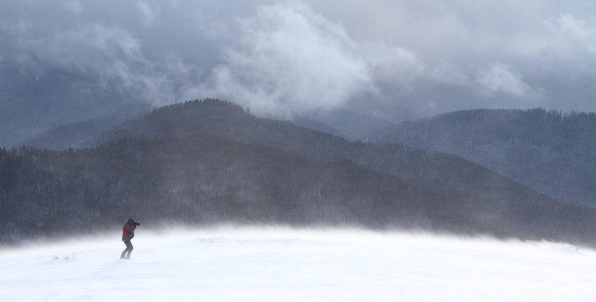 горы, снег, метель, Михаил Псарёв