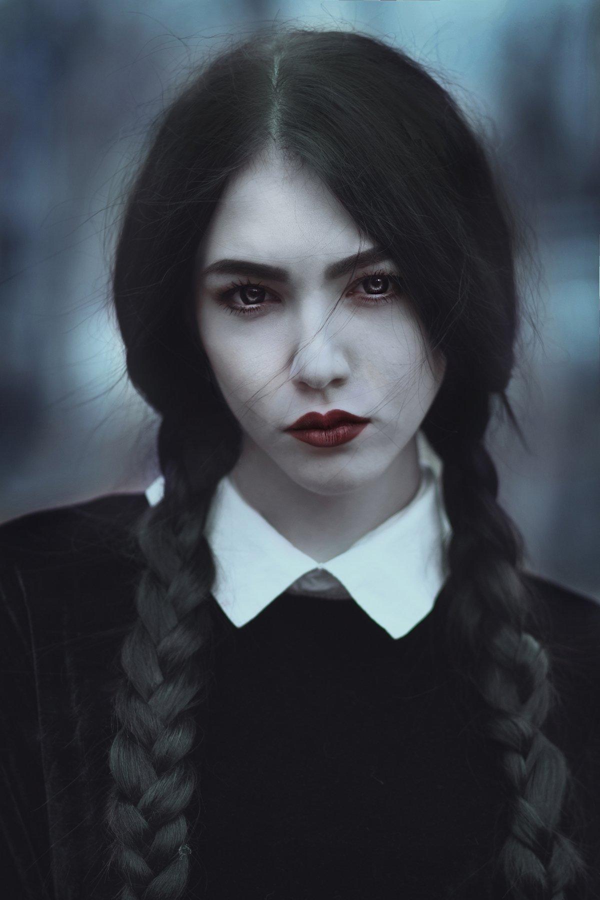 wednesday addams photographer polyanskaya elena