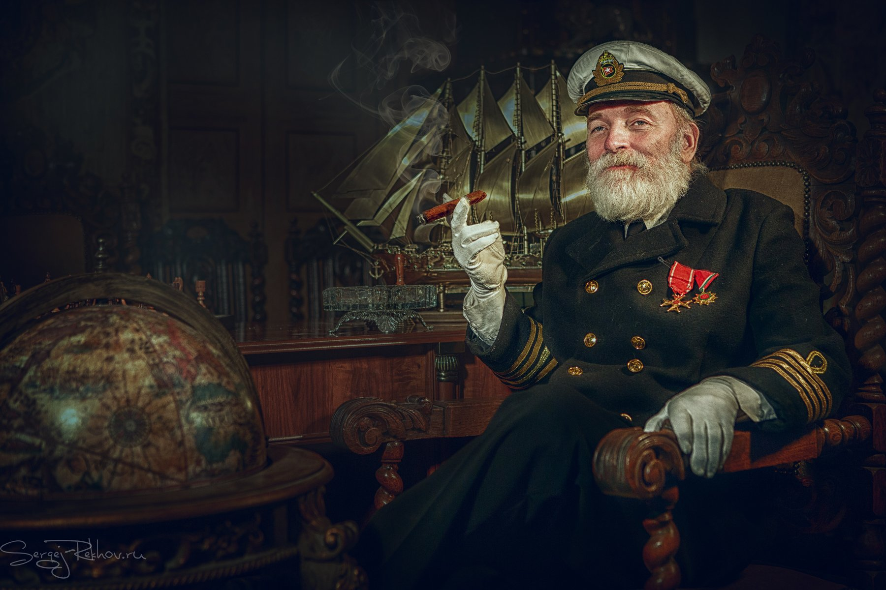 капитан, титаник, ночь, кабинет, rekhov, Сергей Рехов