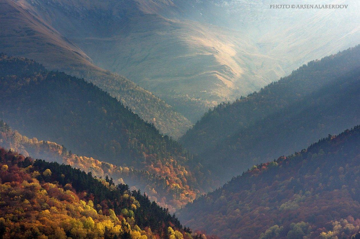 гора, пик, вершина, скала,облака, северный кавказ, карачаево-черкесия, туман, ущелье, лес, осень, АрсенАл