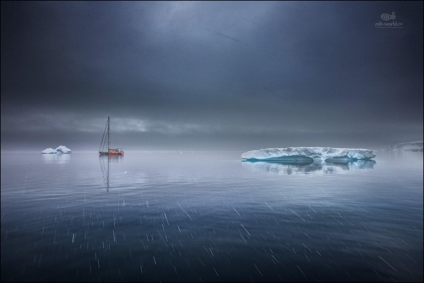 Антарктида, лед, айсберг, пейзаж, Mikhail vorobyev