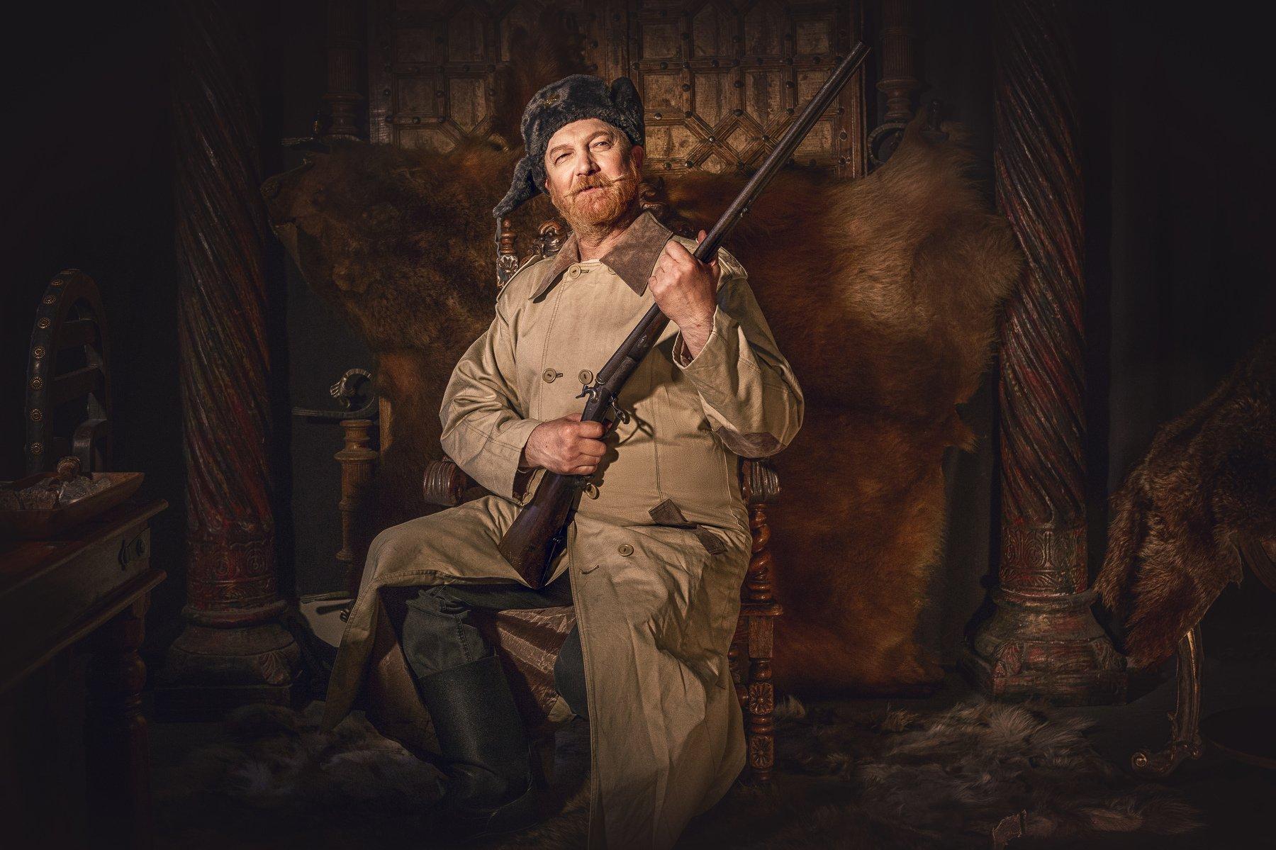 охотник, кузьмич, комедия, очаг, ружьё, Сергей Рехов