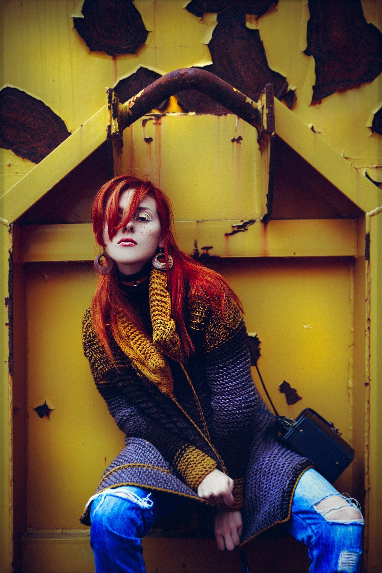 woman, portrait, natural light, art, fashion, yellow, Руслан Болгов (Axe)