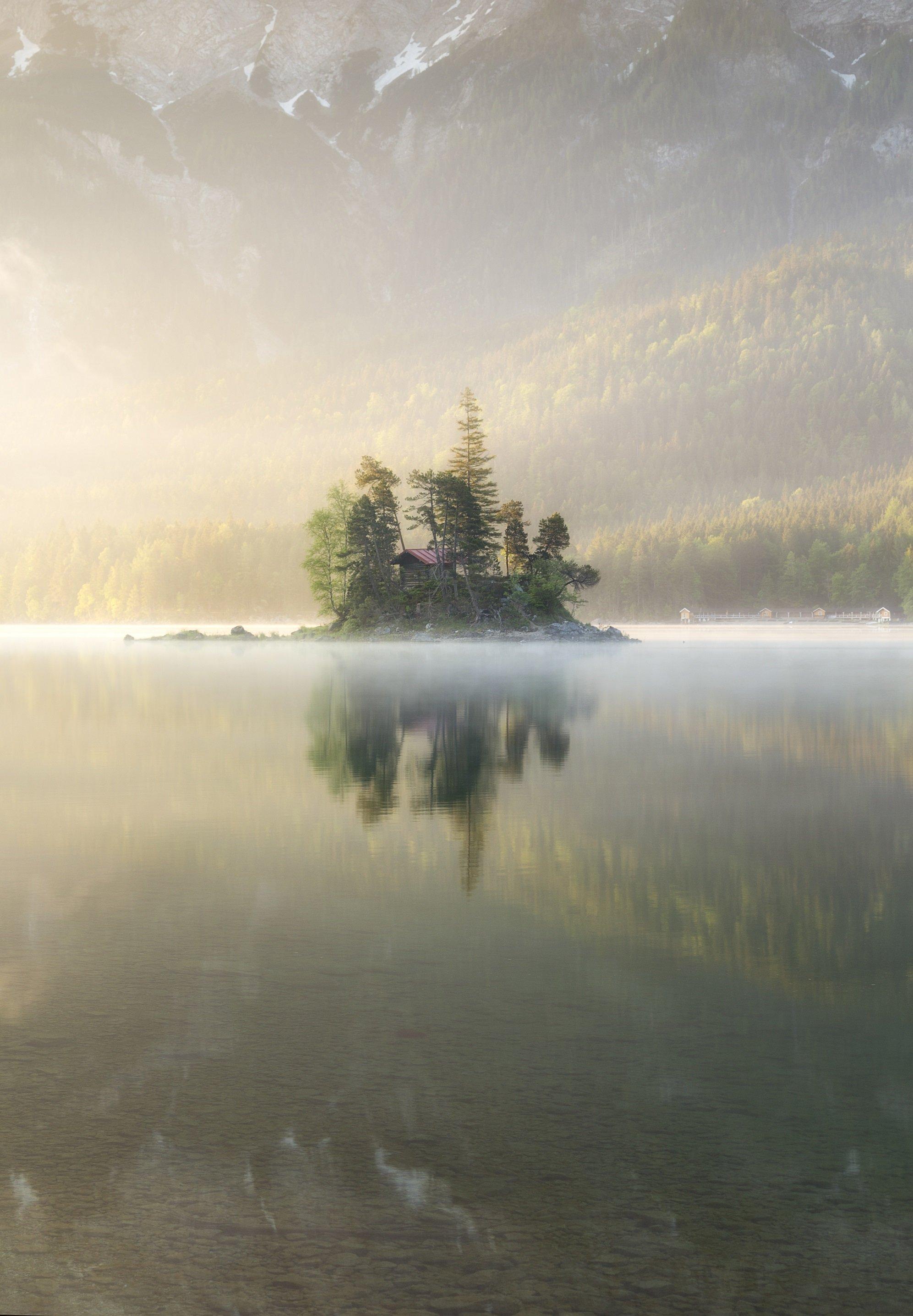 Германия, рассвет, озеро, Павел