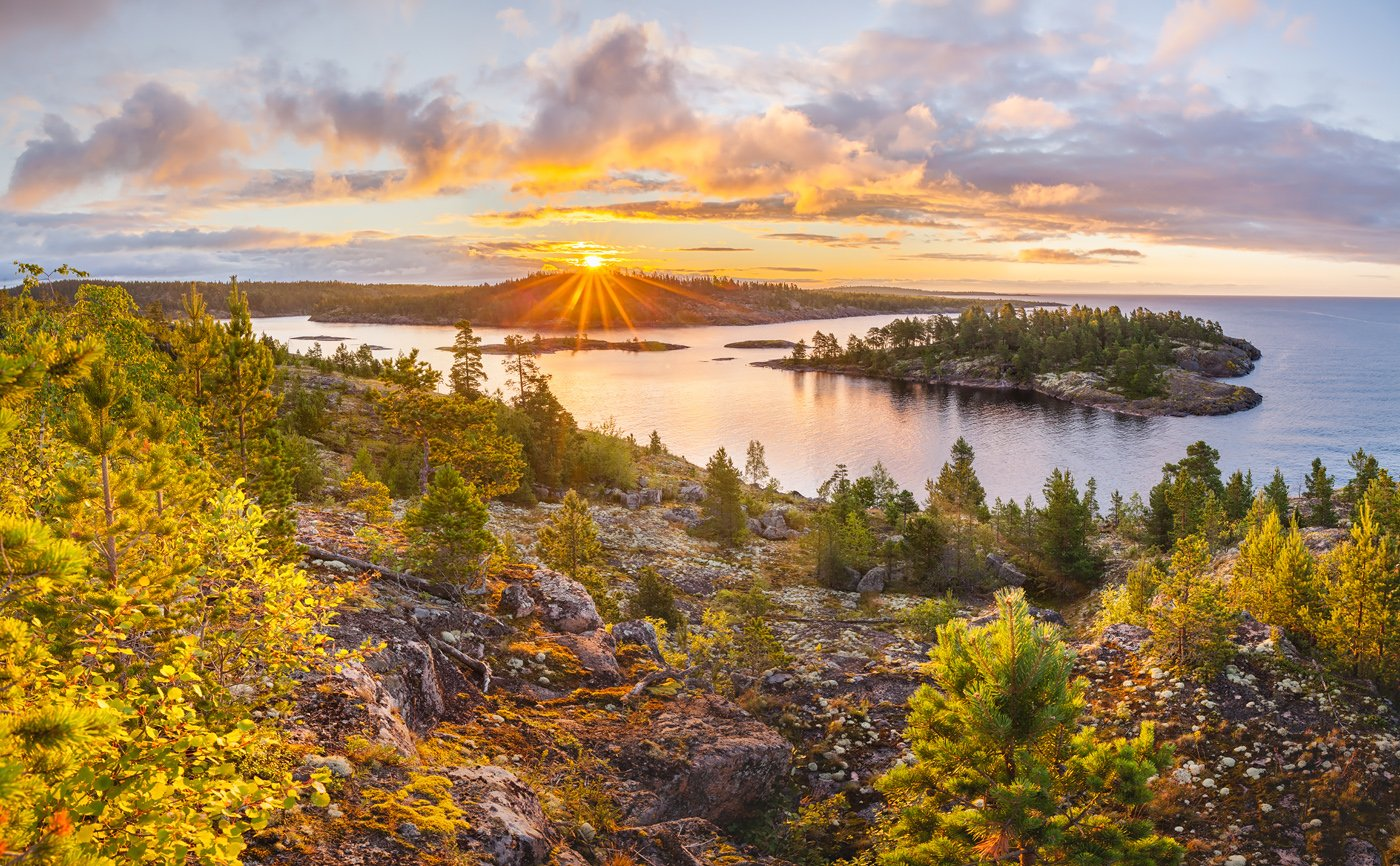 ладога, ладожское озеро, ладожские шхеры, карелия, восход, лето, фототур, Арсений Кашкаров