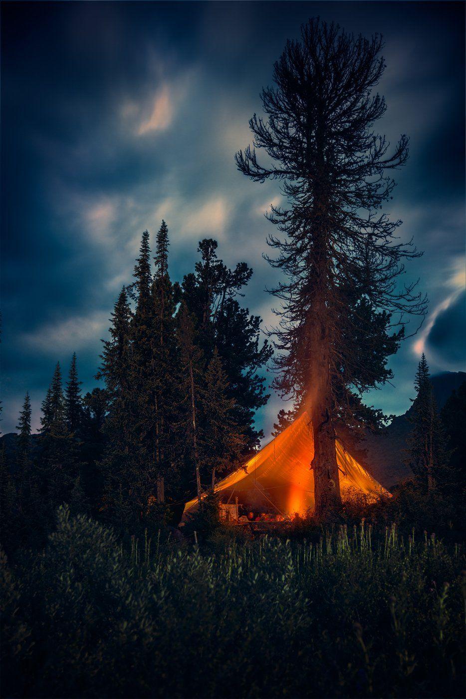 пейзаж, landscape, природа, nature, вечер, evening, поздний, late, ночь, dusk, night, темный, dark, красный, red, mounts, mountains, горы, taiga, тайга, forest, лес, ergaki, ергаки, siberia, сибирь, krasnoyarski krai, красноярский край, range, хребет, big, Дмитрий Антипов