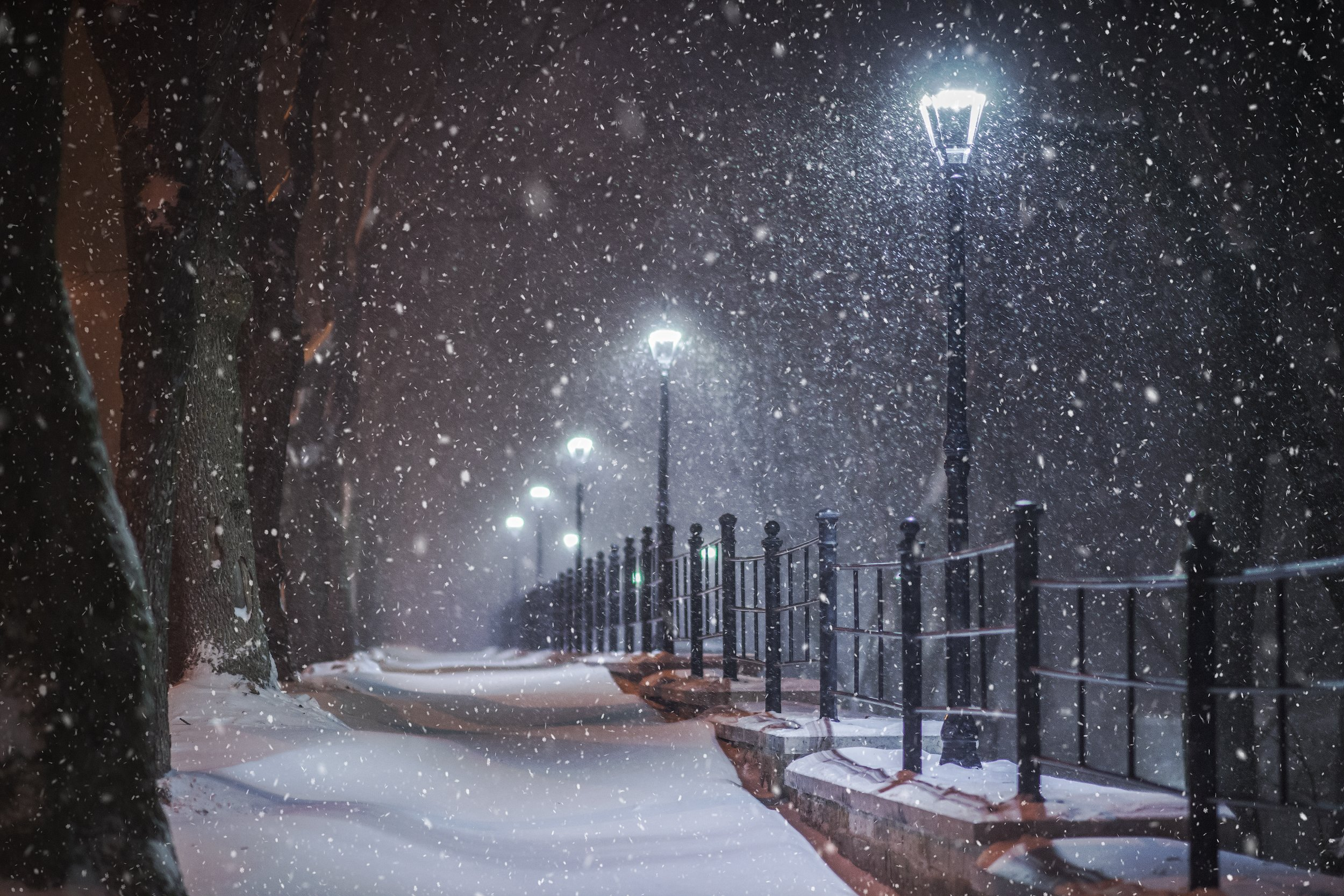 первый снег, снегопад, нарва, Aleksandr Kljuchenkow