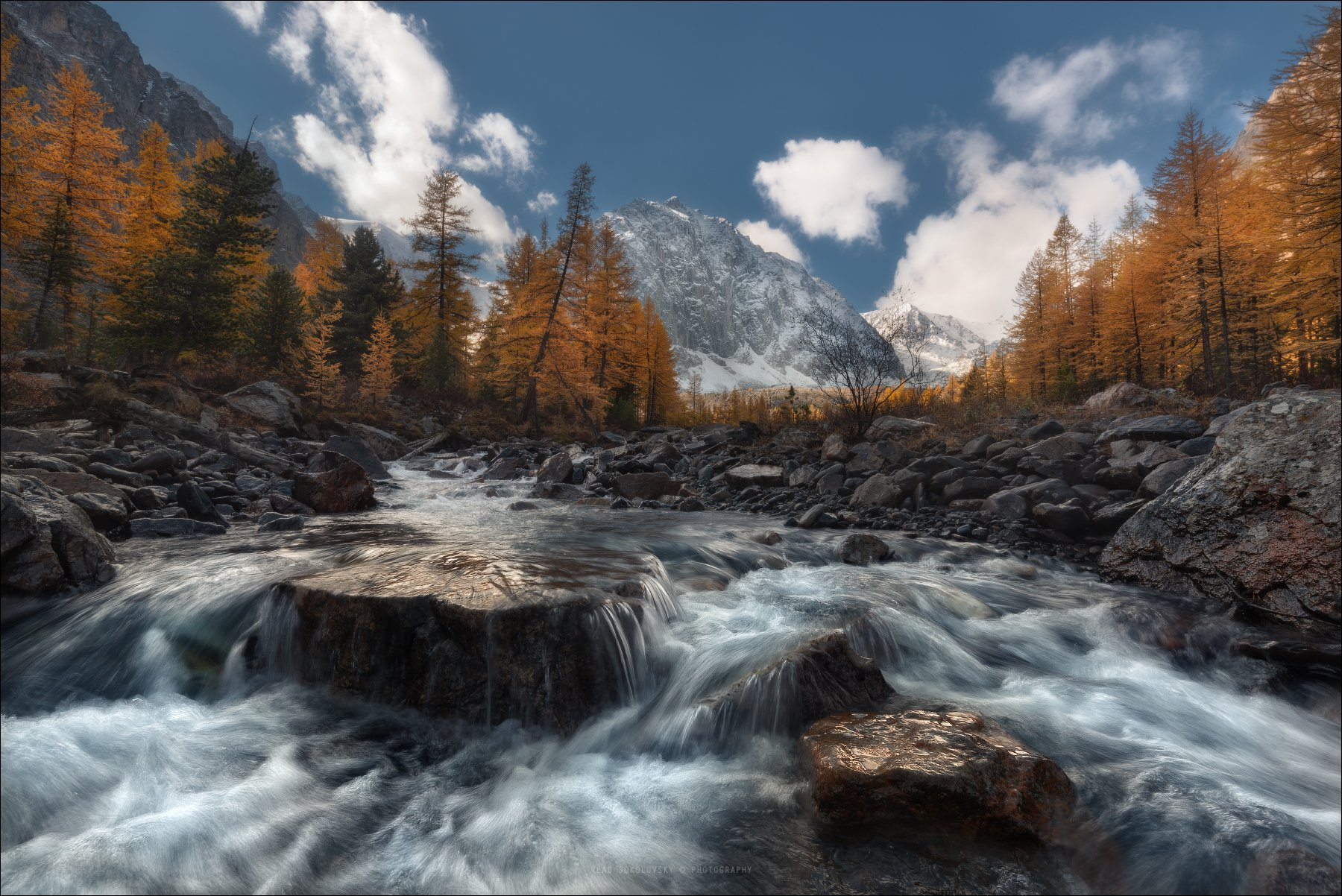 алтай, актру, ледник, река, осень, караташ, актуру, альплагерь, Влад Соколовский
