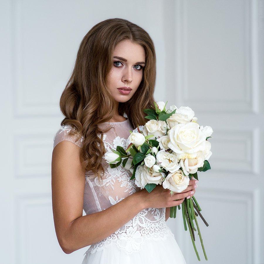 девушка, портрет, милая, cute, girl, portrait, свадьба, невеста, Тимофей Смирнов