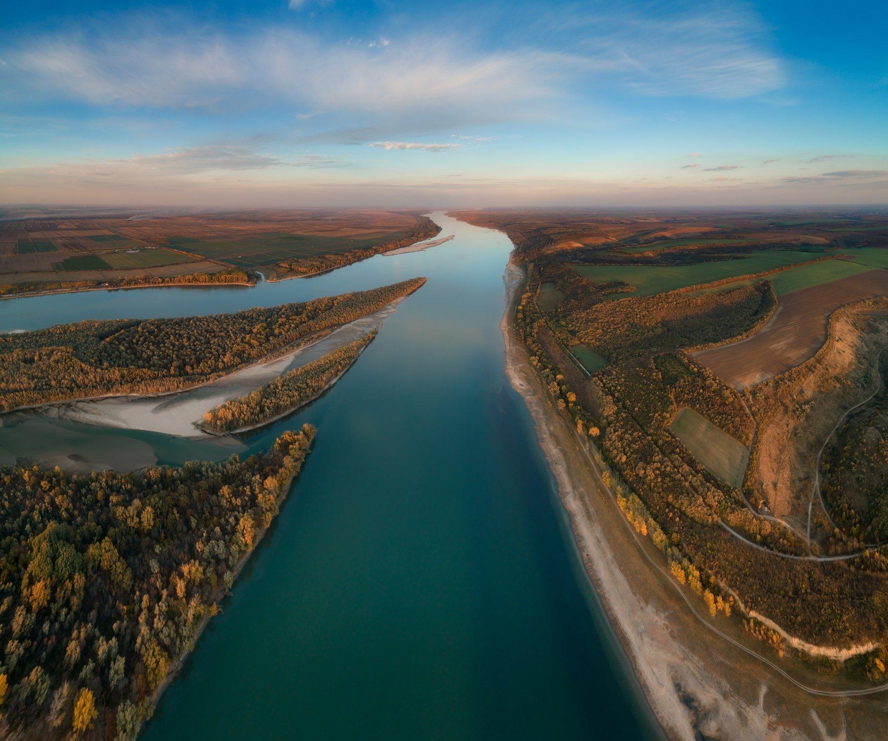 дунай,река,осень,болгария,румыния, Даниел Балъков