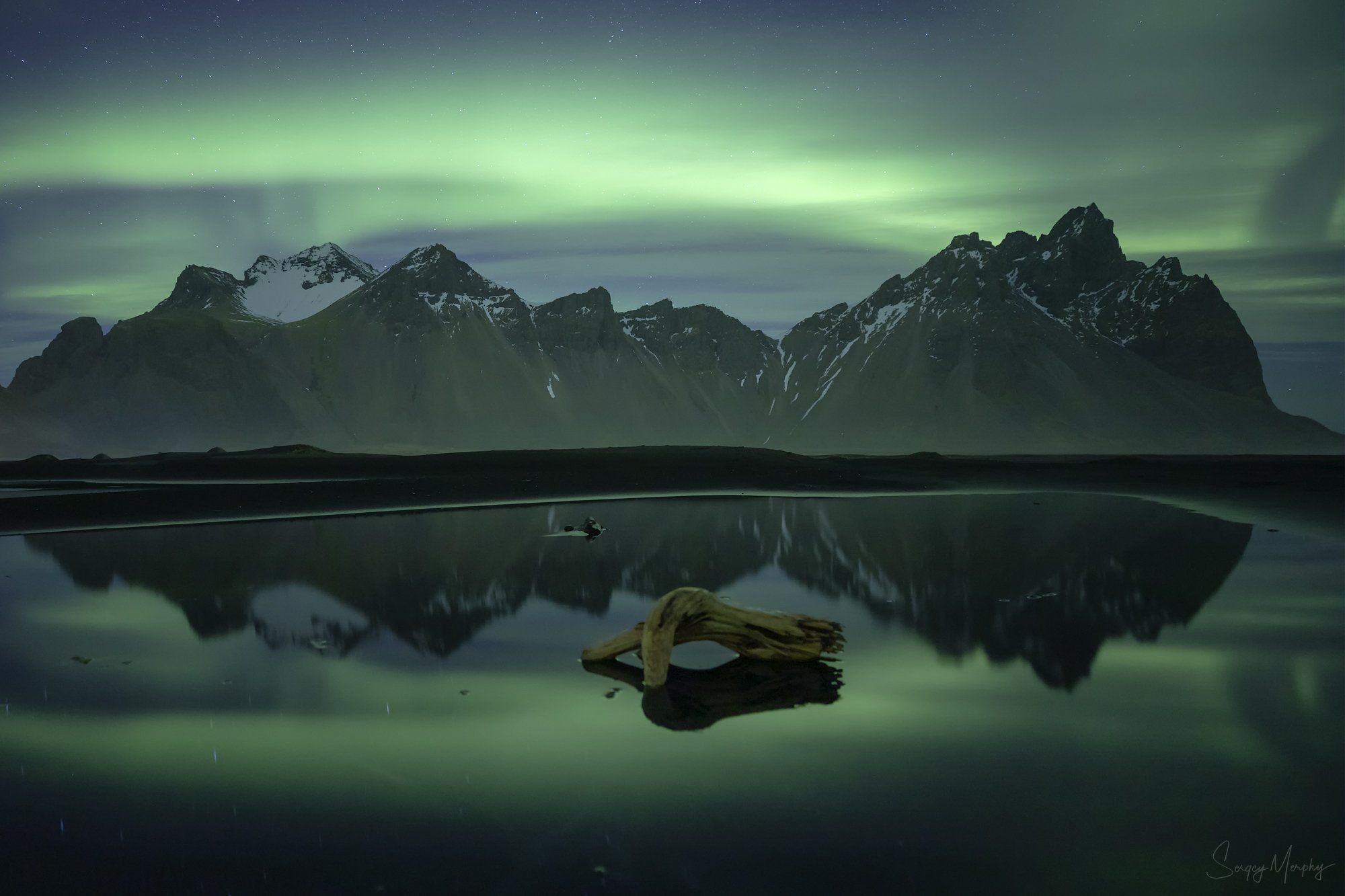 green, silence., vestrahorn., iceland., Merphy Sergey