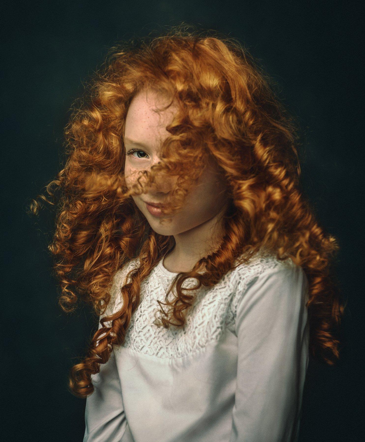 портрет, ребенок, рыженькая, конопушки, рыжие волосы, рембрандт, портрет рыженькой девочки, Пилипчук Константин