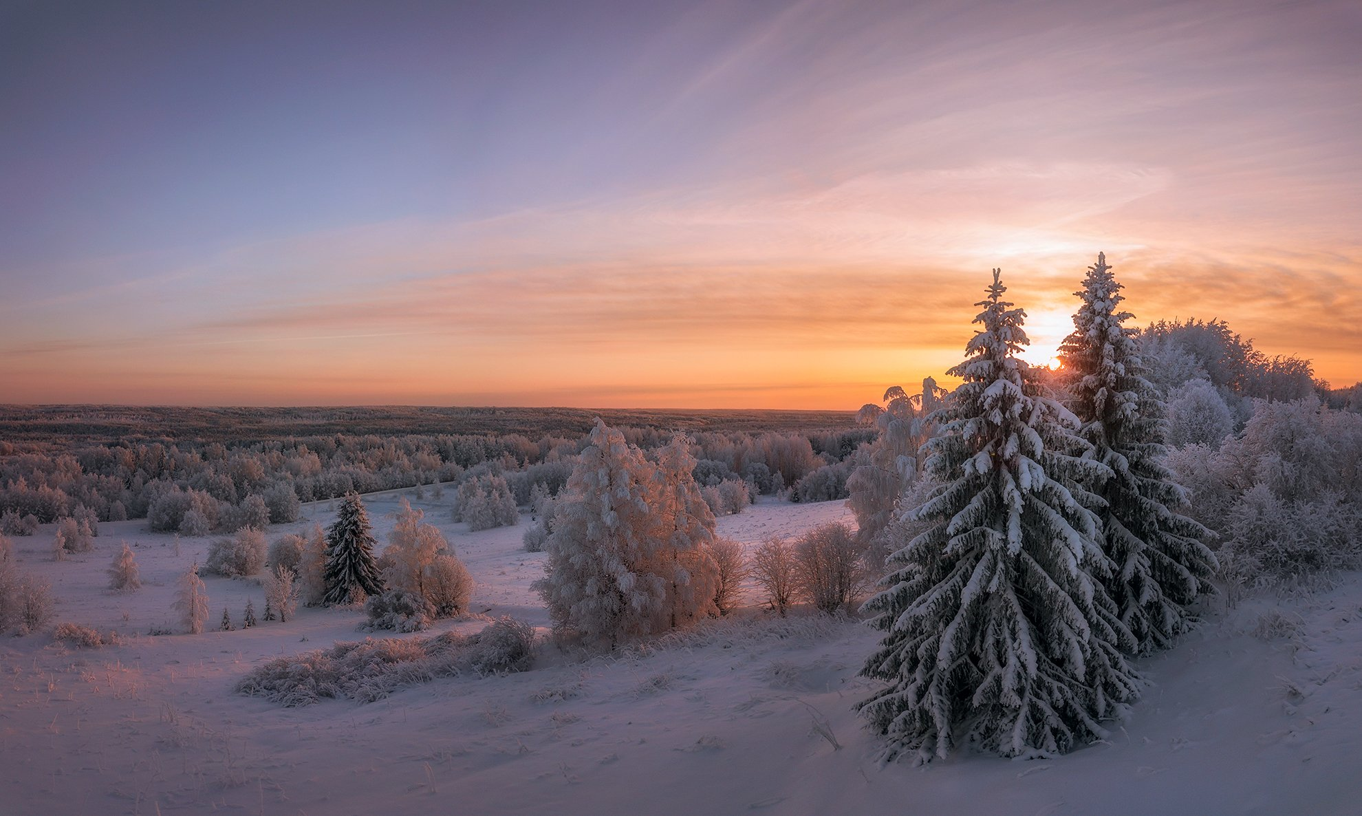 drone photo,sunset,dji,mavic pro,закат,зима,деревня,верхняя тойма,архангельская область,зимний лес, Алексей Юницын