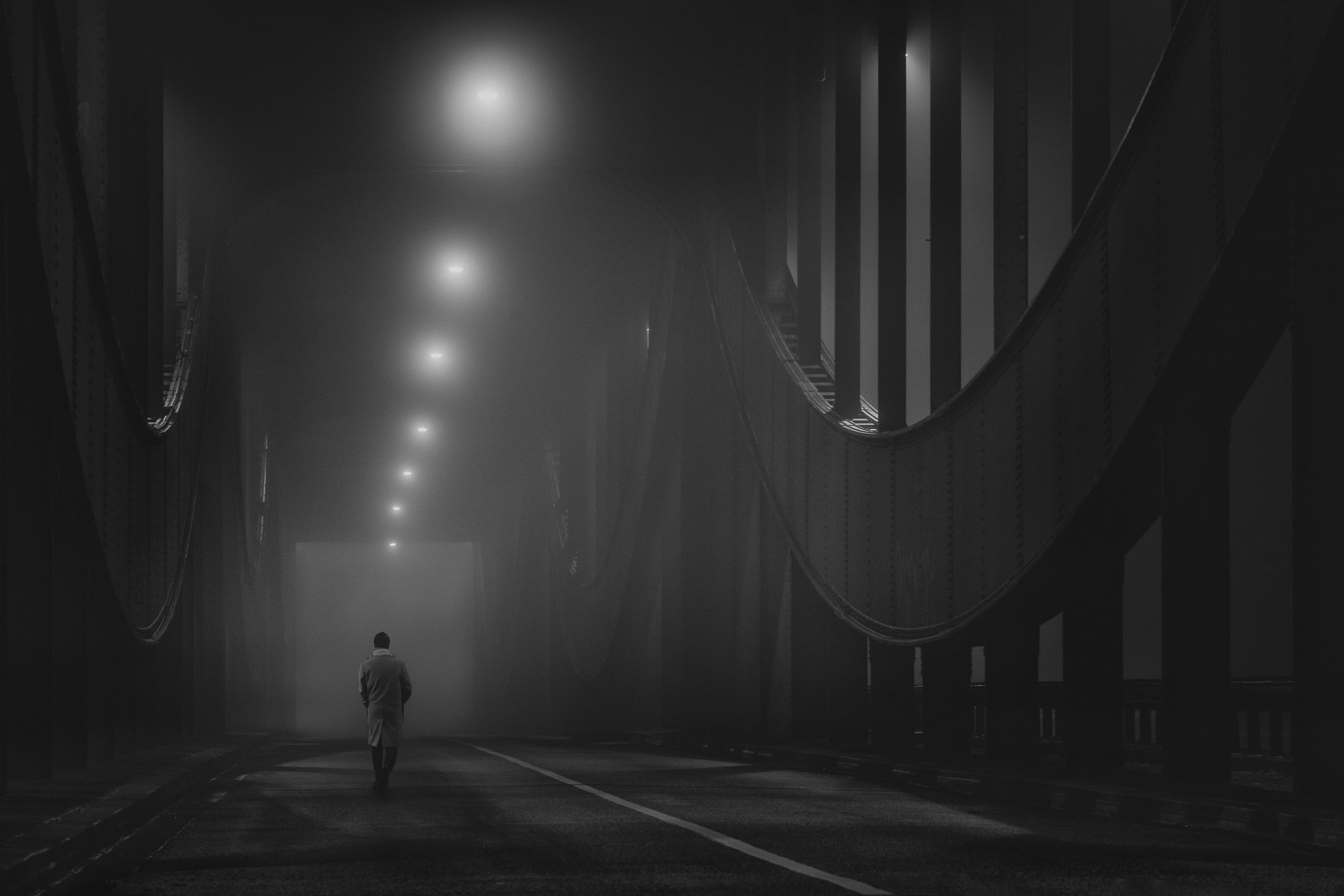 mood, lights, person, bridge, urban, street, Schönberg Alexander