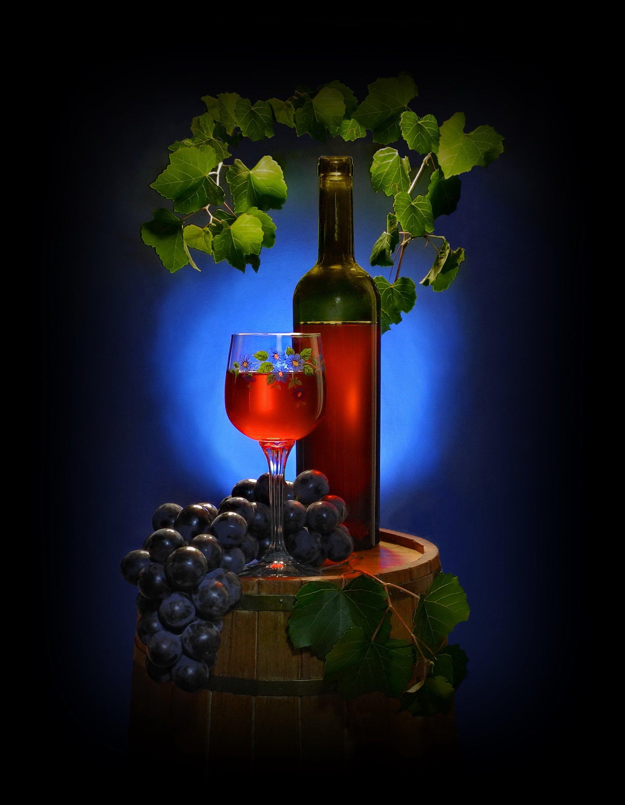 Натюрморты! Вино и мудрость в винном напитке!