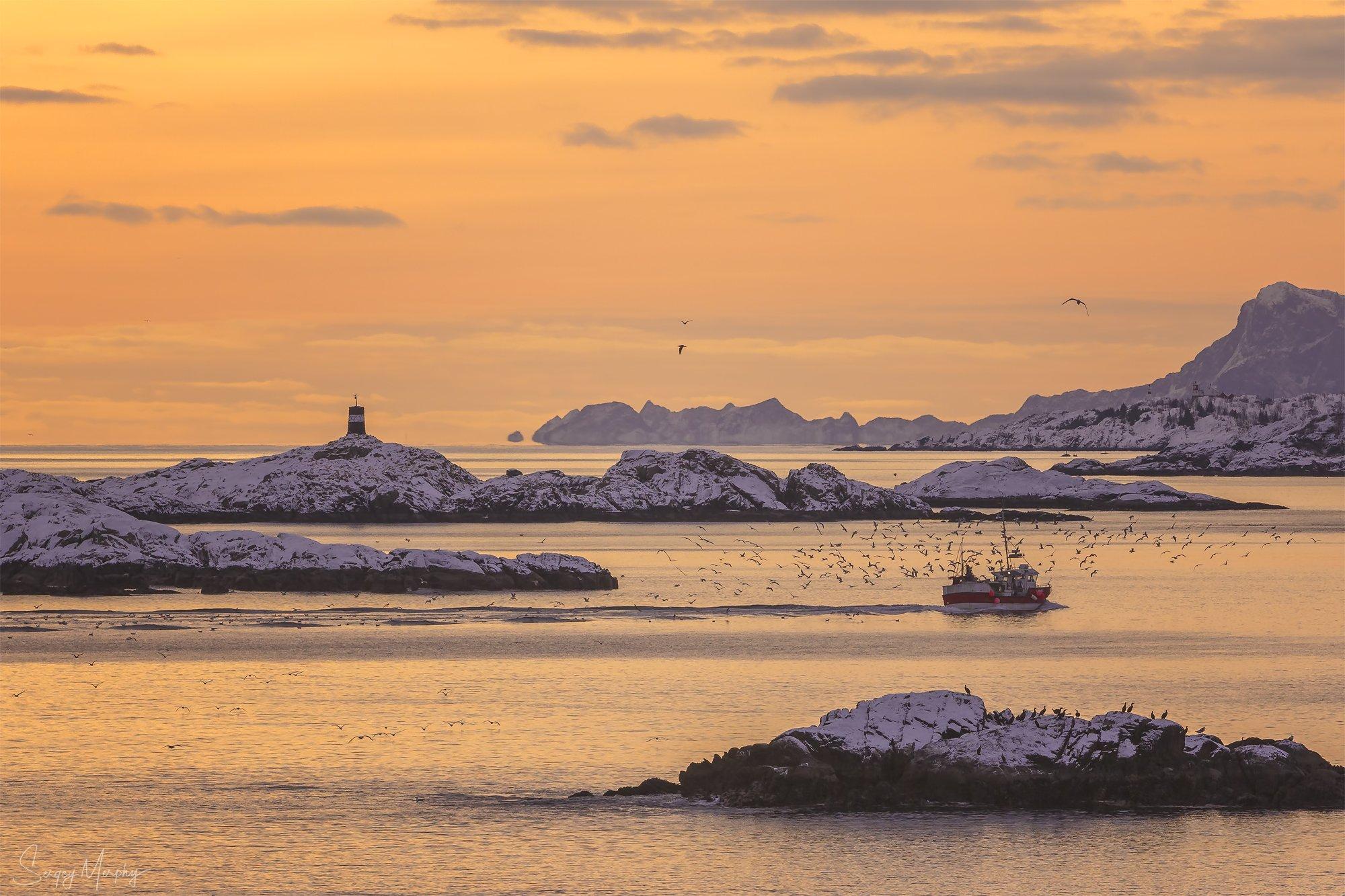 fishermans\' boat lofotens norway, Merphy Sergey